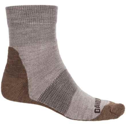 GANDER MTN Midweight Hiking Socks - Merino Wool, Quarter Crew (For Men and Women) in Tan - Closeouts