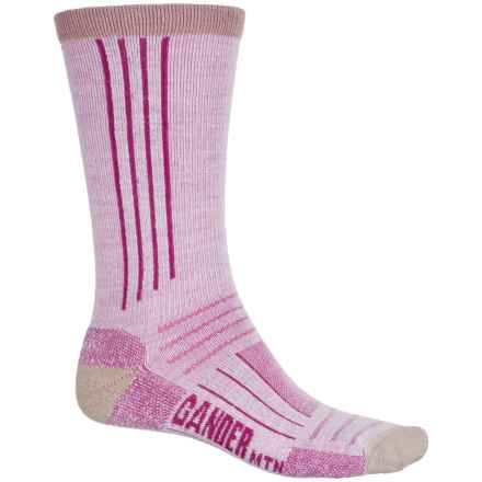 GANDER MTN Ultimate Hiking Socks - Merino Wool, Crew (For Men and Women) in Pink - Closeouts