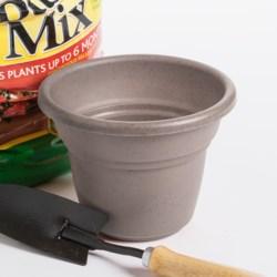 "Garden Scene Milano Flower Pot - 13"" Diameter in Clay Stone"