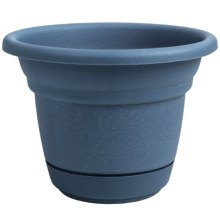 "Garden Scene Tahoe Flower Pot - 7.5"" Diameter in Blue Coral - Closeouts"