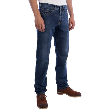 Gardeur Nevio Jeans - Regular Fit, Straight Leg (For Men) in Blue Black