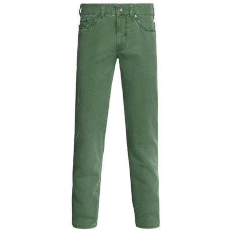 Gardeur Nevio Pants - Washed Cotton Twill (For Men) in Green
