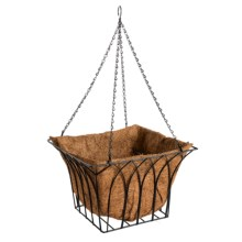 "Gardman Gothic Hanging Square Planter - 14"" in See Photo - Closeouts"