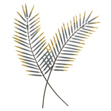 Gardman Palm Leaf Wall Art - Steel in See Photo - Closeouts
