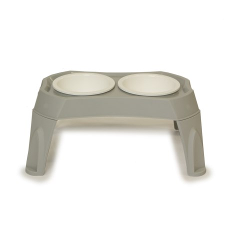 Gardner Pet Group Elevated Pet Bowls - Medium in Gray