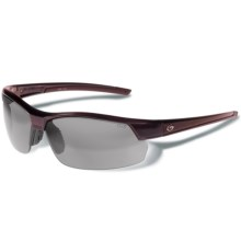 Gargoyles Breakaway Sunglasses - Polarized Mirrored Lenses in Dark Red Metallic/Smoke/Silver - Closeouts