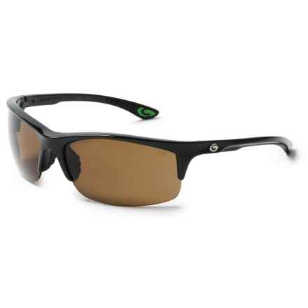 Gargoyles Flux Sunglasses - Polarized in Black/Brown - Closeouts
