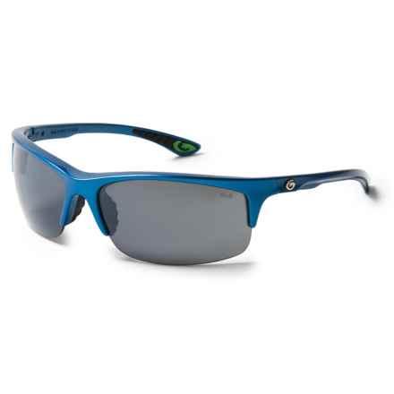 Gargoyles Flux Sunglasses - Polarized Mirror Lenses in Blue/Smoke/Silver - Closeouts