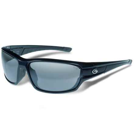 Gargoyles Havoc Sunglasses - Polarized Mirrored Lenses in Navy Blue Metallic/Smoke/Silver - Closeouts