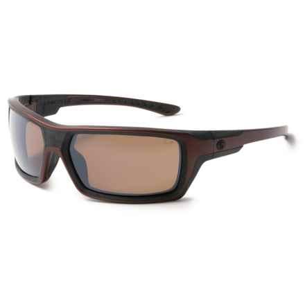 Gargoyles Khyber Sunglasses - Polarized Mirror Lenses in Matte Dark Red/Brown/Silver - Closeouts