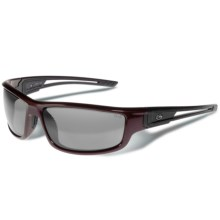 Gargoyles Squall Sunglasses - Polarized Mirrored Lenses in Dark Red Metallic/Smoke/Silver - Closeouts