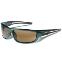 Gargoyles Squall Sunglasses - Polarized Mirrored Lenses in Hunter Green Metallic/Brown/Silver - Closeouts