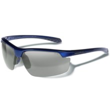 Gargoyles Stakeout Sunglasses - Mirrored Lenses in Surf Blue Metallic/Smoke/Silver - Closeouts