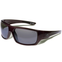 Gargoyles Wrath Sunglasses - Polarized Mirrored Lenses in Dark Red Metallic/Smoke/Silver - Closeouts