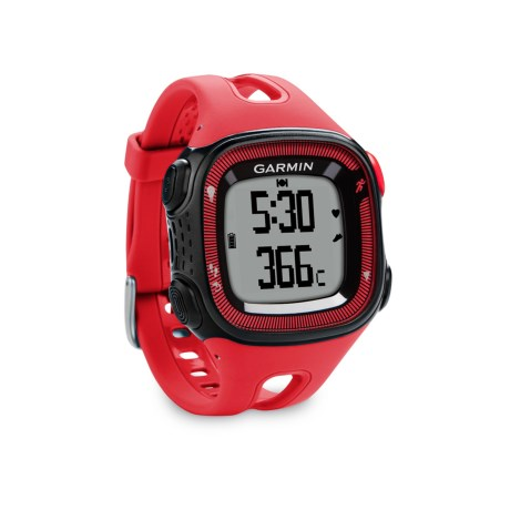 Garmin Forerunner 15 GPS Running Watch - Refurbished in Red/Black
