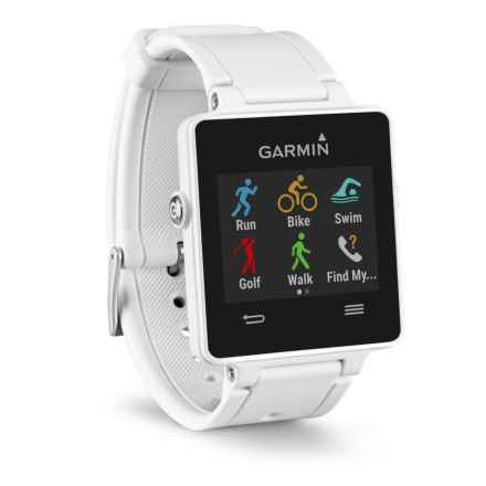 Garmin Vivoactive GPS Smartwatch - Silicone Band in White - 2nds