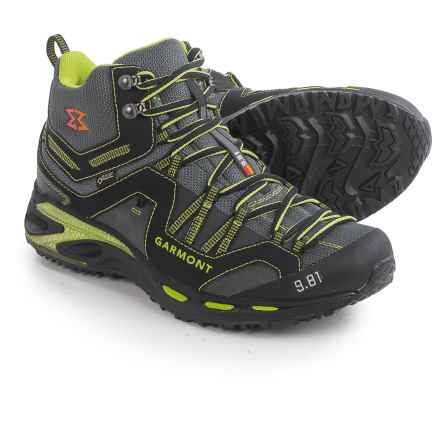 Garmont 9.81 Trail Pro II Mid Gore-Tex® Hiking Boots - Waterproof (For Men and Women) in Black/Green - Closeouts