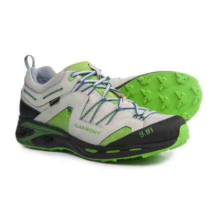 Garmont 9.81 Trail Pro III Gore-Tex® Trail Running Shoes - Waterproof (For Men) in Light Grey/Green - Closeouts