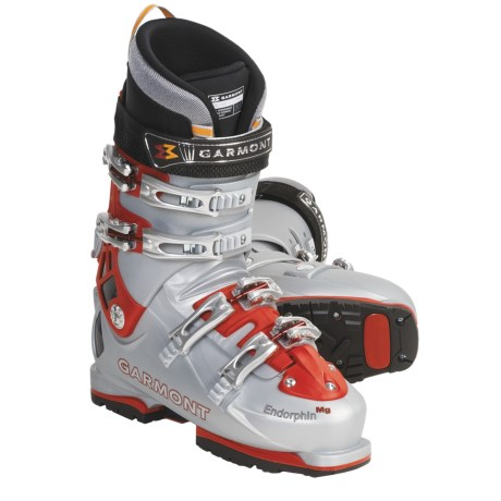 Garmont Endorphin AT Ski Boots - G-Fit High Liners (For Men) in Red/Silver