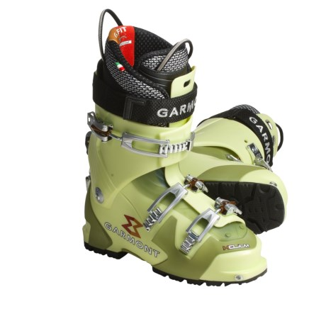 Garmont Helium AT Ski Boots - Dynafit Compatible, G-Fit Liner (For Men) in Spring Green
