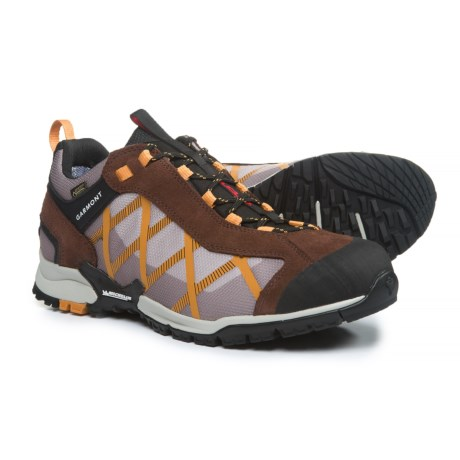 Garmont Mystic Gore-Tex® Surround Hiking Shoes - Waterproof, Suede (For Men) in Coffee/Ginger Orange