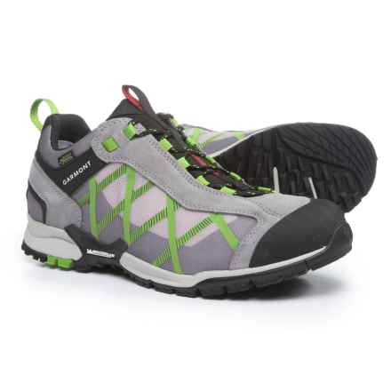 Garmont Mystic Gore-Tex® Surround Hiking Shoes - Waterproof, Suede (For Men) in Grey/Green - Closeouts