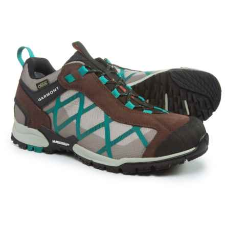 Garmont Mystic Gore-Tex® Surround Hiking Shoes - Waterproof, Suede (For Women) in Coffee/Teal Green - Closeouts