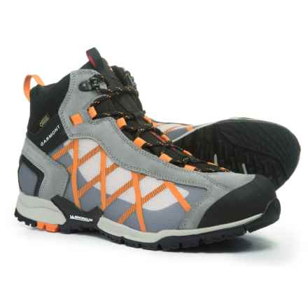 Garmont Mystic Gore-Tex® Surround Mid Hiking Boots - Waterproof, Suede (For Men) in Grey/Dark Orange - Closeouts
