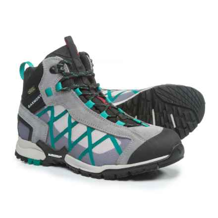 Garmont Mystic Gore-Tex® Surround Mid Hiking Boots - Waterproof, Suede (For Women) in Grey/Teal Green - Closeouts