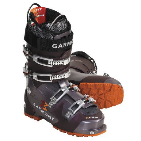Garmont Radium AT Ski Boots - Dynafit Compatible, G-Fit Liner (For Men) in Aubergine