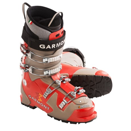 Garmont Shogun AT Ski Boots - G-Fit Liners (For Men) in Red/Grey