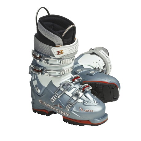 Garmont Xena AT Ski Boots - G-Fit Liners (For Women) in Blue Pearl/White