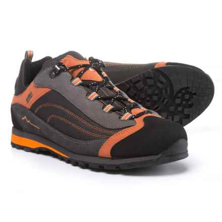 Garsport 615 WP Hiking Shoes -Waterproof, Suede (For Men) in Anthracite/Orange - Closeouts