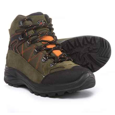 Garsport Egypt Junior Hiking Boots - Suede (For Kids) in Green/Orange - Closeouts