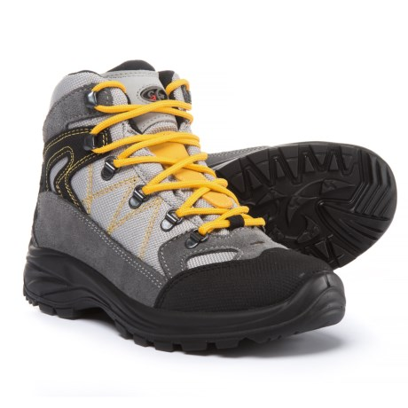 Garsport Egypt Junior Hiking Boots - Suede (For Kids) in Grey/Yellow