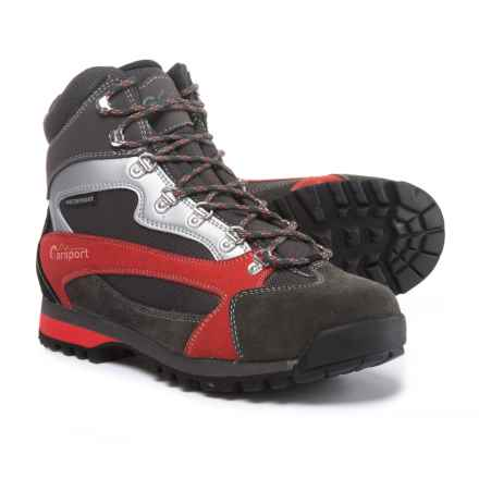 Garsport Elgon Hiking Boots - Waterproof, Suede (For Men) in Black/Red - Closeouts