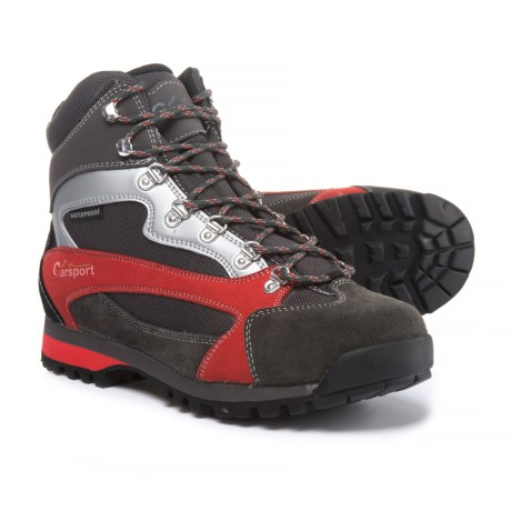 Garsport Elgon Hiking Boots - Waterproof, Suede (For Men) in Black/Red