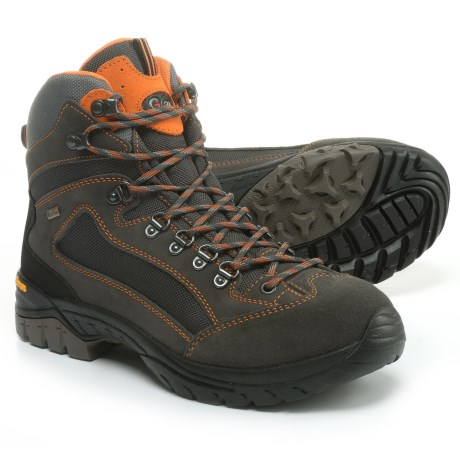 Garsport Madrid Hiking Boots - Waterproof (For Men) in Grey/Orange