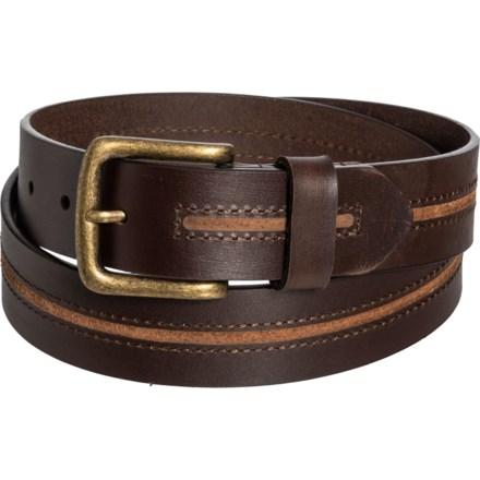 a7033657a21dd Gem Dandy Danbury Top-Grain Leather Belt with Brass Buckle (For Men) in