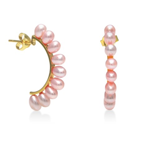 Gemstar Dyed Freshwater Pearl Earrings in Pink
