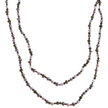 """Gemstar Endless Necklace - Mixed Freshwater Pearls, 62"""" in Multi Dark Fwp - Closeouts"""