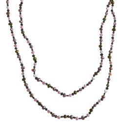 "Gemstar Endless Necklace - Mixed Freshwater Pearls, 62"" in Multi Dark Fwp"