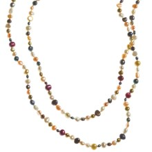 "Gemstar Endless Necklace - Mixed Freshwater Pearls, 62"" in Multi Light Fwp - Closeouts"