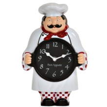 Geneva Clock Company Decorative Chef Wall/Table Clock in Chef - Closeouts