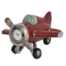 Geneva Clock Company Sculpture Tabletop Clock in Airplane - Closeouts