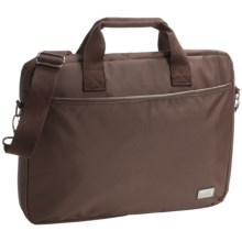 Genius Pack City Commuter Laptop Bag in Espresso Brown - Closeouts