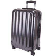 """Genius Pack Hardside Spinner Rolling Upright Suitcase - 25"""" in Brushed Chrome - Closeouts"""