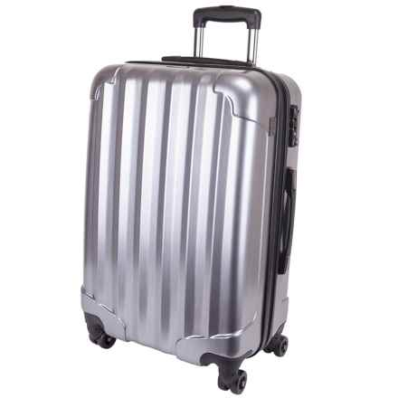 "Genius Pack Hardside Spinner Rolling Upright Suitcase - 25"" in Platinum - Closeouts"
