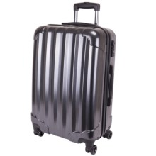 "Genius Pack Hardside Spinner Rolling Upright Suitcase - 29"" in Brushed Chrome - Closeouts"