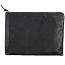 Genius Pack Luxe Leather Portfolio Bag in Nappa Black - Closeouts